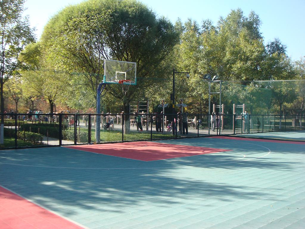 奥林匹克森林公园拼装地板篮球场
