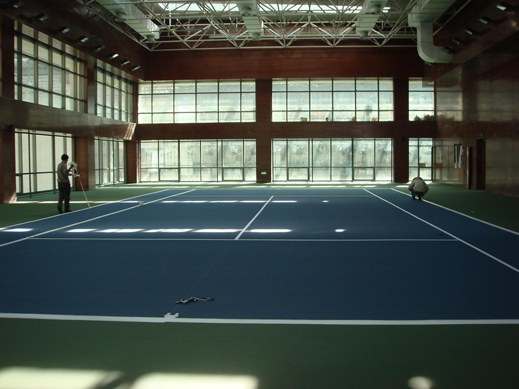 华电大厦网球馆施工现场